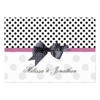 El polkadot negro, blanco le agradece etiqueta del tarjetas de visita grandes