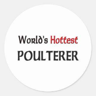 El pollero más caliente de los mundos etiqueta redonda