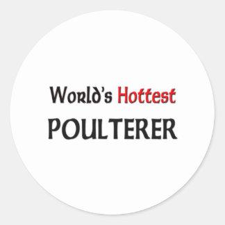 El pollero más caliente de los mundos pegatinas redondas
