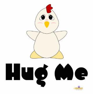 El pollo blanco Huggable me abraza Esculturas Fotograficas