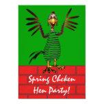 El pollo de primavera invita invitaciones personales