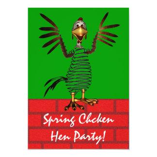 """El pollo de primavera invita invitación 5"""" x 7"""""""
