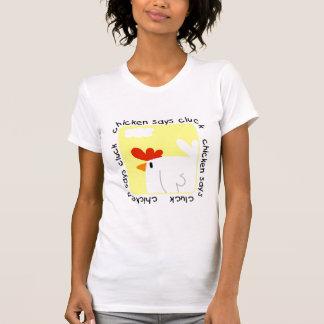 El pollo dice las camisetas y los regalos del