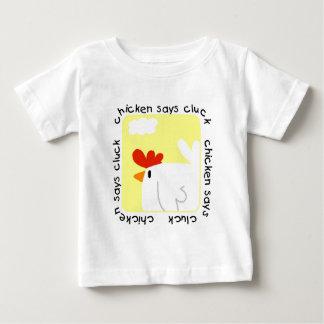 El pollo dice las camisetas y los regalos del remeras