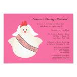 El pollo divertido del fiesta de gallina ilustrado invitacion personal
