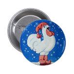 El pollo en gorra rojo que canta en navidad aboton pin