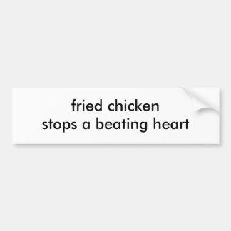 el pollo frito para un corazón de derrota pegatina de parachoque