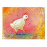 El pollo que camina necesita la soledad - arte ori tarjeta postal