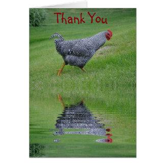 El pollo reflector le agradece cardar tarjeta pequeña