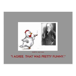 El pollo y Sigmund Freud de Julia hacen frente apa Postales
