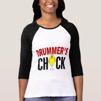 El polluelo 1 del batería camisetas