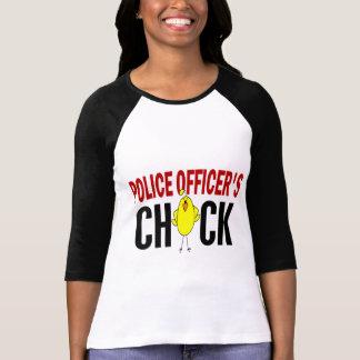 El polluelo 1 del oficial de policía camiseta