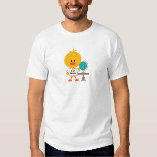 El polluelo de la geografía embroma la camiseta de playera