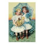 El polluelo de Pascua de los chicas del Victorian  Impresion Fotografica