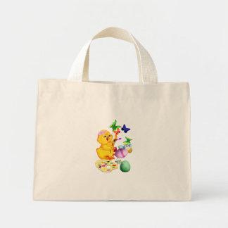 El polluelo de Pascua pinta el bolso Bolsa Tela Pequeña