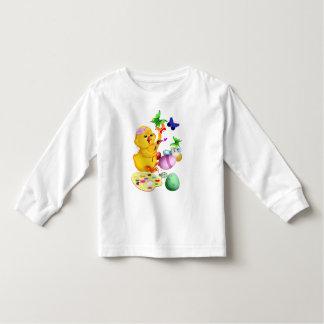 El polluelo de Pascua pinta la camiseta Playeras