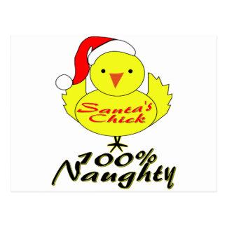 El polluelo de Santa Tarjetas Postales