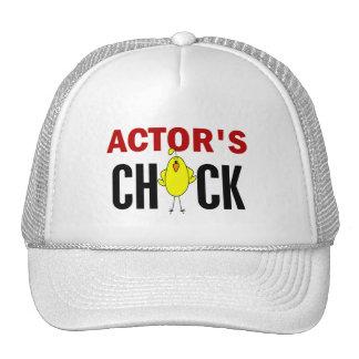 El polluelo del actor gorros bordados