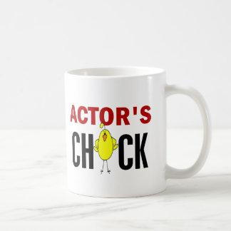El polluelo del actor tazas