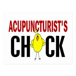 El polluelo del Acupuncturist Tarjetas Postales