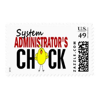 El polluelo del administrador de sistema sellos