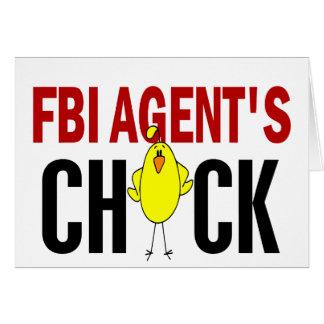 El polluelo del agente del FBI Tarjeta De Felicitación
