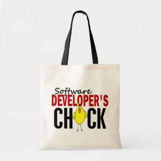 El polluelo del analista de programas informáticos bolsa tela barata