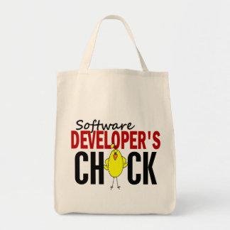 El polluelo del analista de programas informáticos bolsa tela para la compra