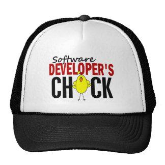 El polluelo del analista de programas informáticos gorras de camionero