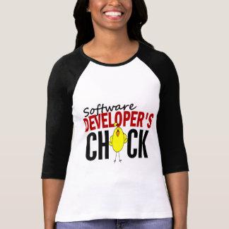 El polluelo del analista de programas informáticos camisetas