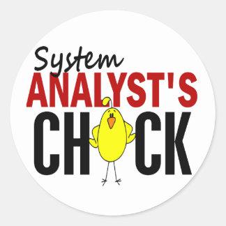 El polluelo del analista de sistemas pegatina