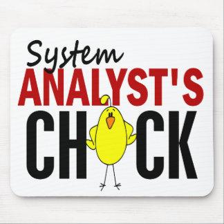 El polluelo del analista de sistemas alfombrillas de raton