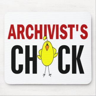 El polluelo del archivista tapete de ratón