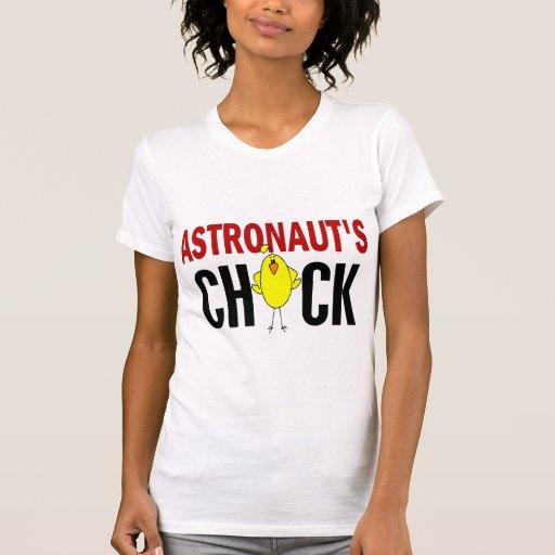 El polluelo del astronauta camisetas