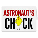 El polluelo del astronauta felicitación