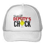 El polluelo del ayudante del sheriff gorras de camionero
