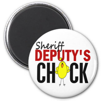 El polluelo del ayudante del sheriff imán redondo 5 cm
