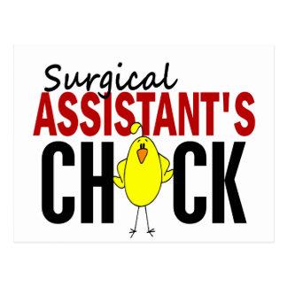El polluelo del ayudante quirúrgico postal