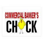 El polluelo del banquero comercial tarjeta postal