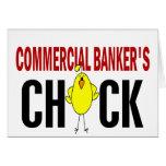 El polluelo del banquero comercial tarjetón