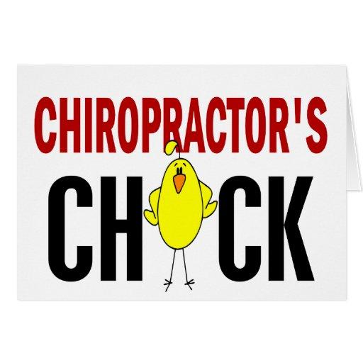 El polluelo del Chiropractor Felicitaciones