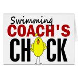 El polluelo del coche de la natación felicitaciones
