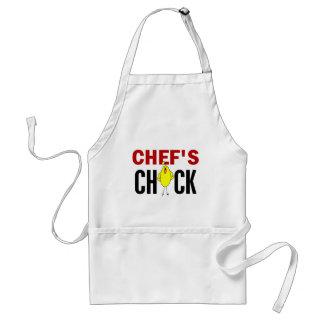 El polluelo del cocinero delantal