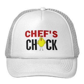 El polluelo del cocinero gorros