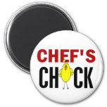 El polluelo del cocinero imán para frigorifico