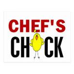 El polluelo del cocinero tarjetas postales