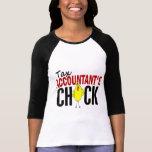 El polluelo del contable del impuesto camisetas