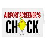 El polluelo del cribador del aeropuerto tarjetas