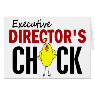 El polluelo del director ejecutivo felicitación