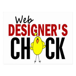 El polluelo del diseñador del Web Tarjetas Postales
